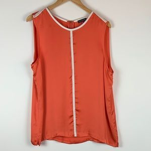 Vince Camuto Orange Sleeveless Blouse Size XL Top